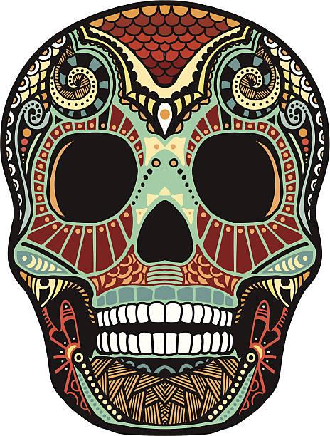 Tete De Mort Mexicaine Vectoriels Et Illustrations Libres De