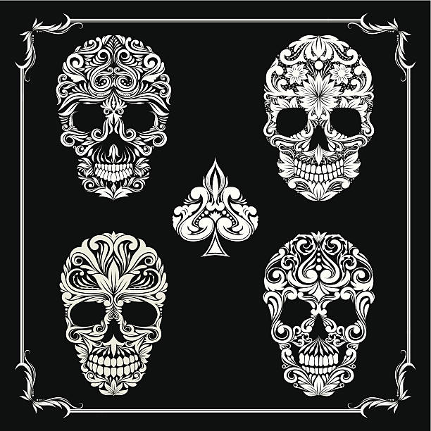 skull Ornamental Collections vector art illustration