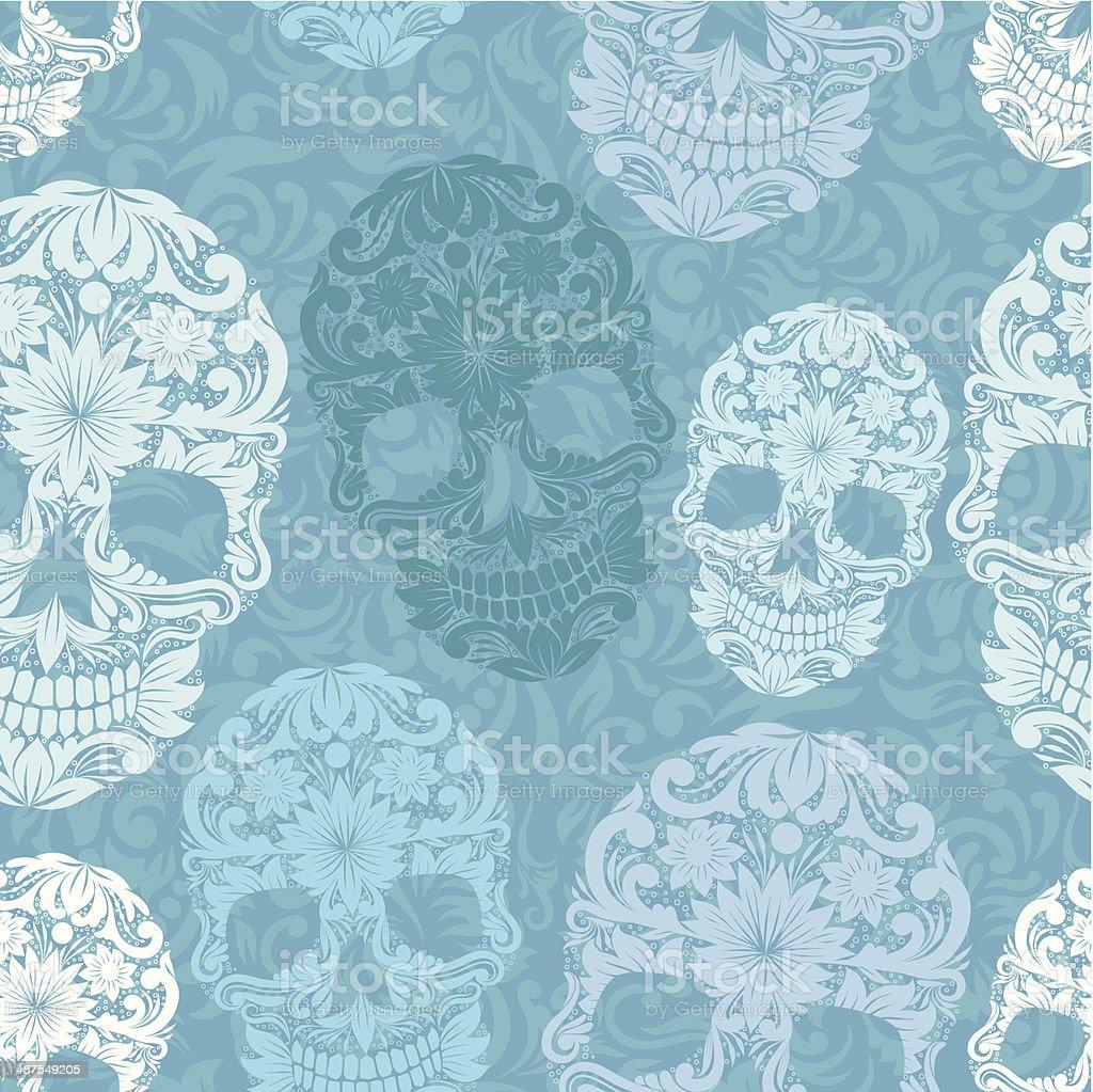 Skull pattern classic royalty-free stock vector art