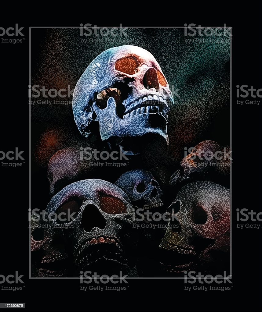 Skull Pile Background royalty-free skull pile background stock vector art & more images of backgrounds