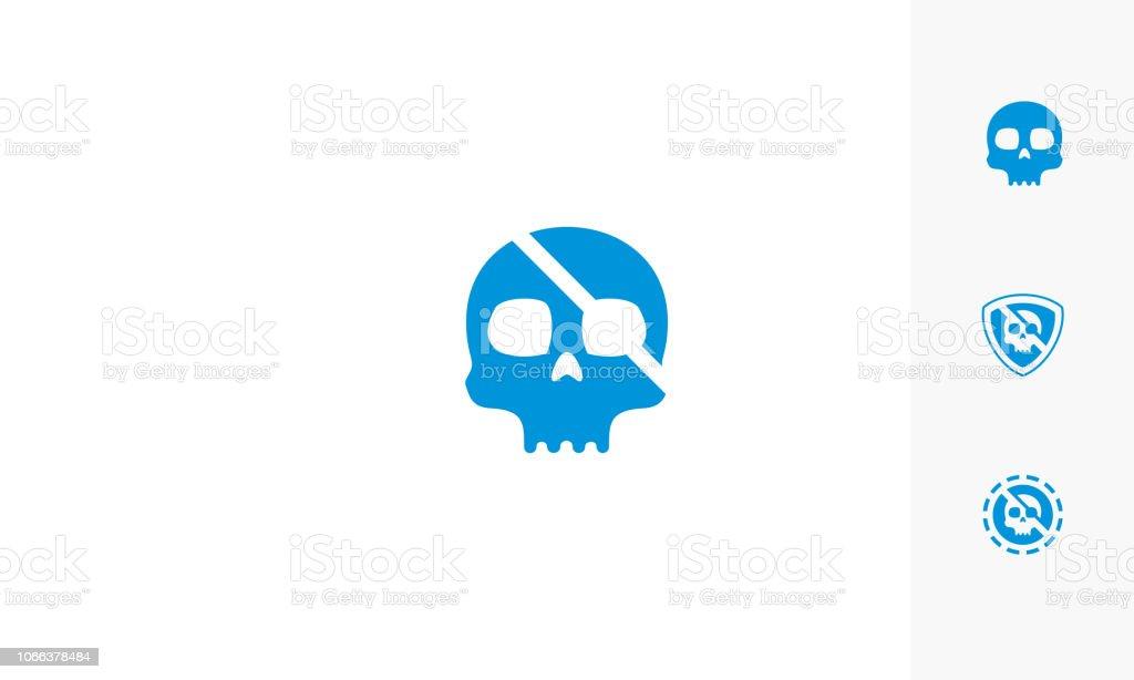 スカル海賊ロゴのベクトルのアイコン ベクターアートイラスト