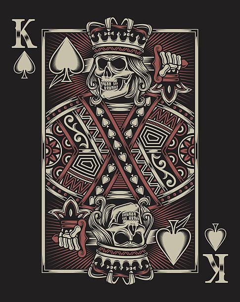 Crâne de cartes à jouer - Illustration vectorielle
