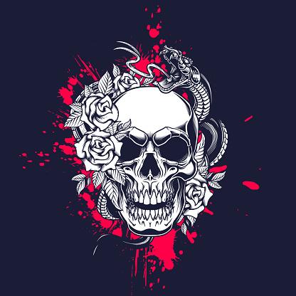 Skull poster design.