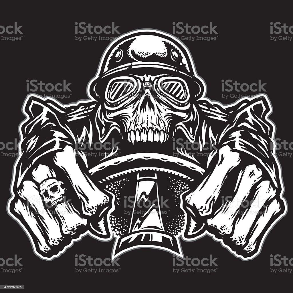 Skull Rider vector art illustration