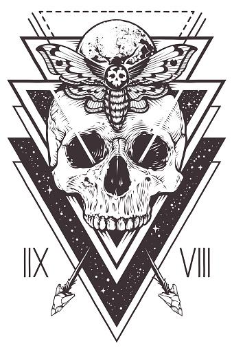 Skull Sacred Geometry Design