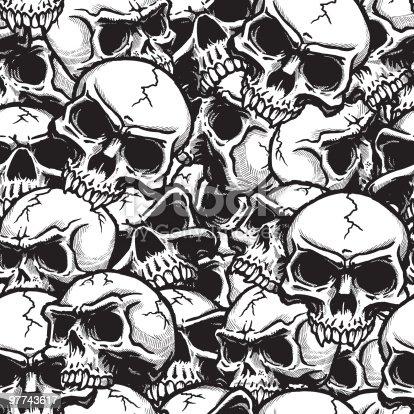 Skull Seamless Pattern