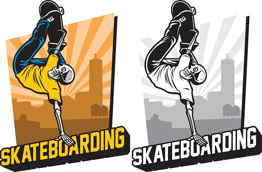 skull skatebording