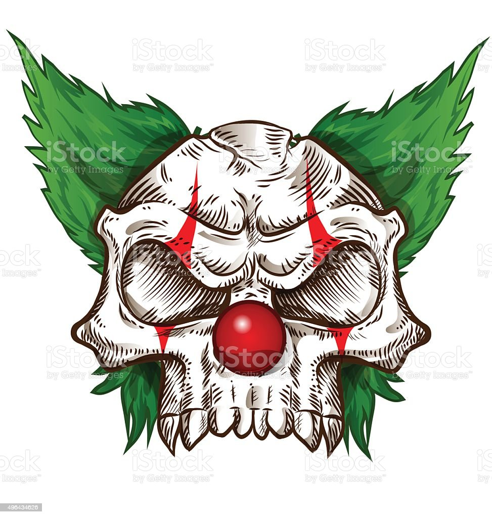 skull sketch design on background vector art illustration