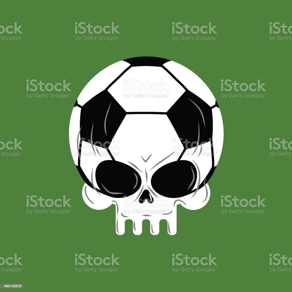 Skull soccer ball. Football skeleton head. Emblem for sports fans royalty-free skull soccer ball football skeleton head emblem for sports fans stock vector art & more images of anatomy