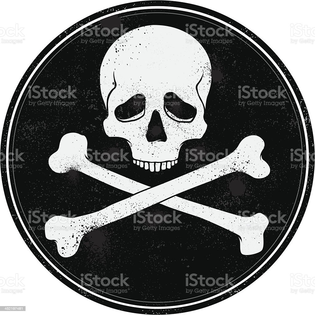 Skull stamp royalty-free stock vector art