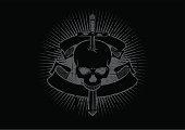 skull sword emblem