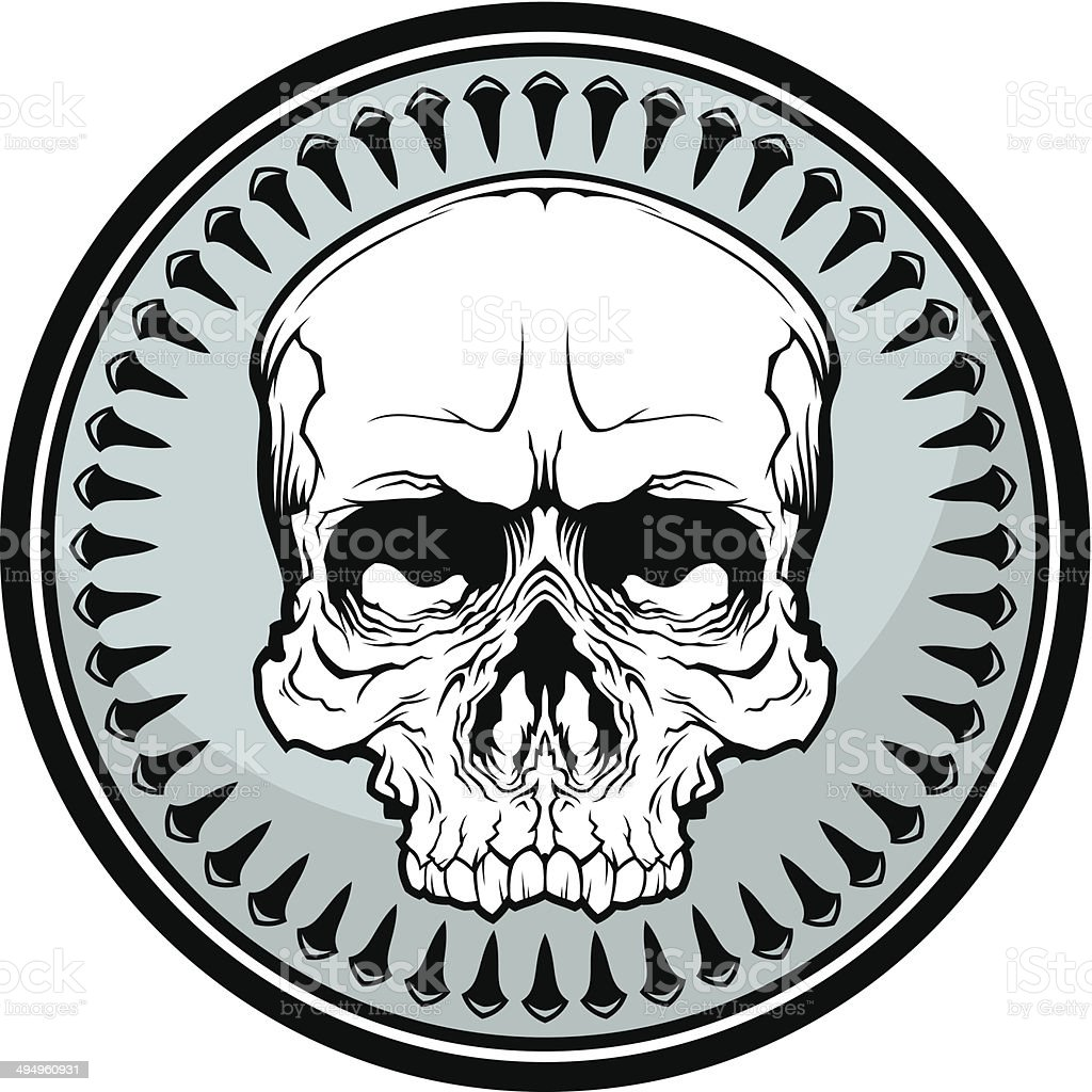 Skull symbol royalty-free skull symbol stock vector art & more images of circle