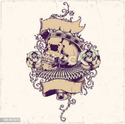 istock Skull tattoo design 165767975