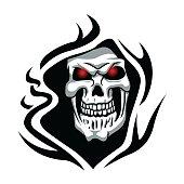 Skull tribal tattoo.