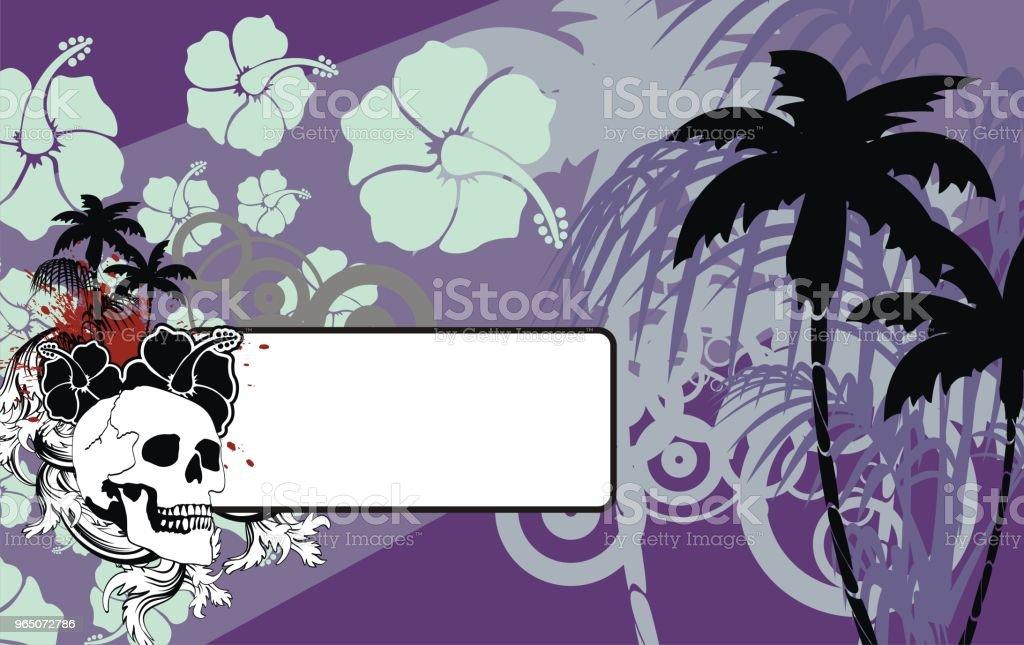 skull tropic summer hawaiian background skull tropic summer hawaiian background - stockowe grafiki wektorowe i więcej obrazów abstrakcja royalty-free