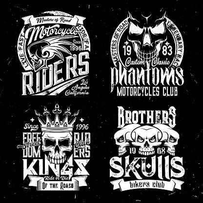 Skull t-shirt print mockup, racing sport club