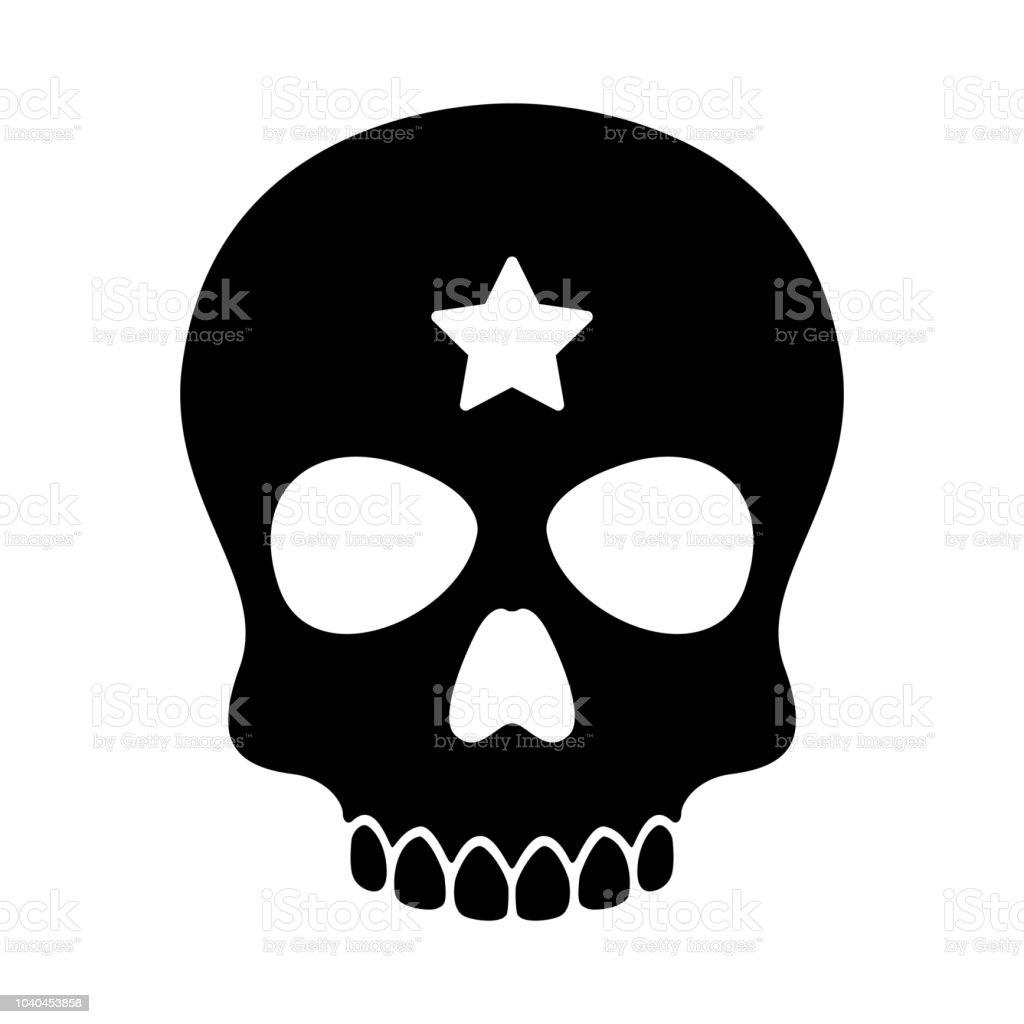 Ilustración de Vector Cráneo Halloween Icono Insignia Estrella ...