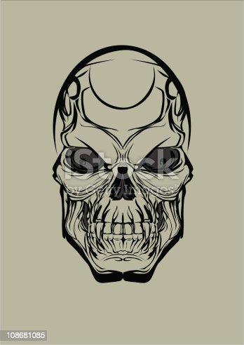 Simple Skull Tattoo Design Clipart Free Download