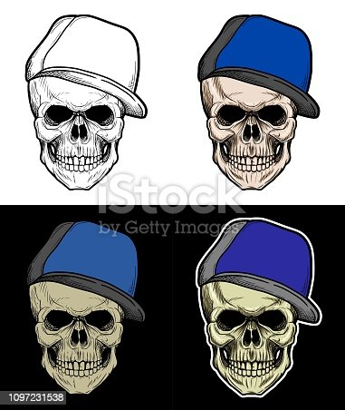 a1588e9091cb3 Gangster Skull Drawing at GetDrawings.com