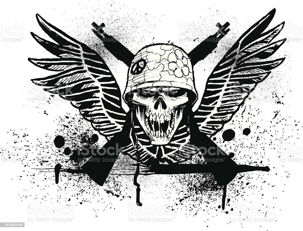 Skull Wing Design royalty-free stock vector art