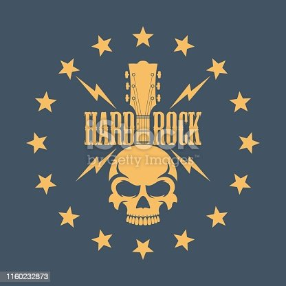 Illustration on the theme of rock music