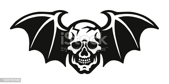 Skull with Bat Wings