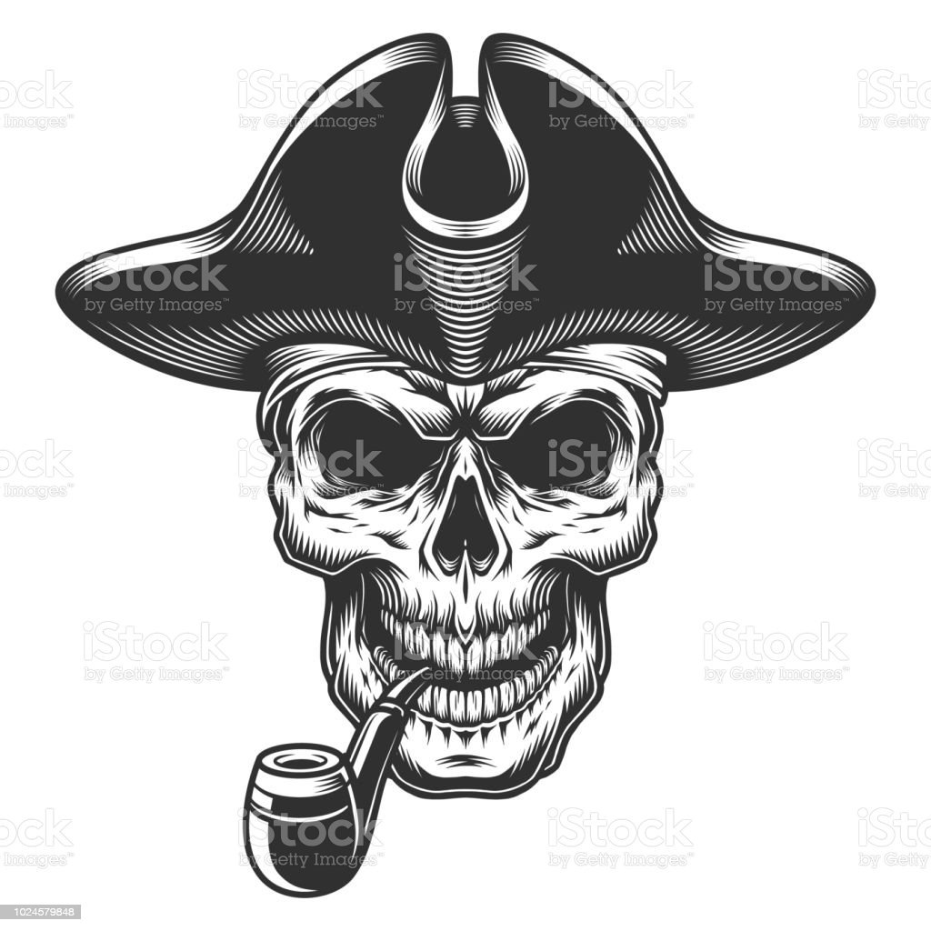 Skull With Beard Royalty Free Stock Vector Art Amp More Images