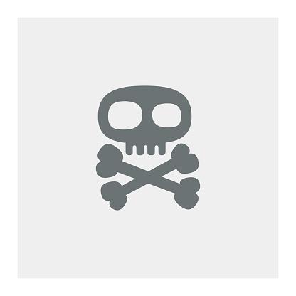 Skull with crossed bones icon