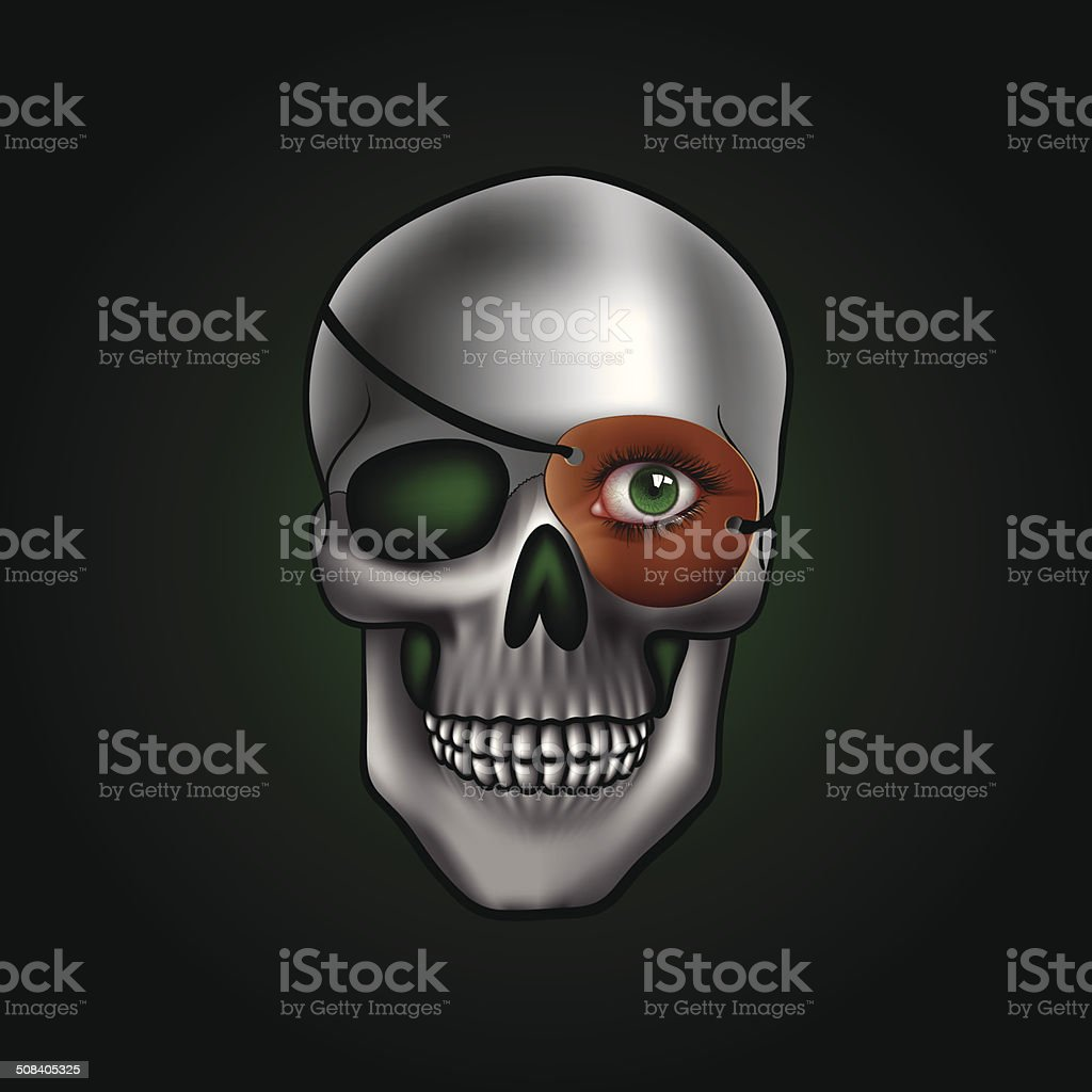 skull with one eye royalty-free skull with one eye stock vector art & more images of anatomy