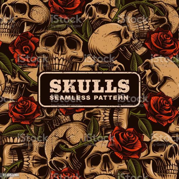 Skull with roses seamless pattern vector id914083264?b=1&k=6&m=914083264&s=612x612&h=ituqfvdisglgmcynwwuy7osgl5v3gjpyh65yvzuqaom=