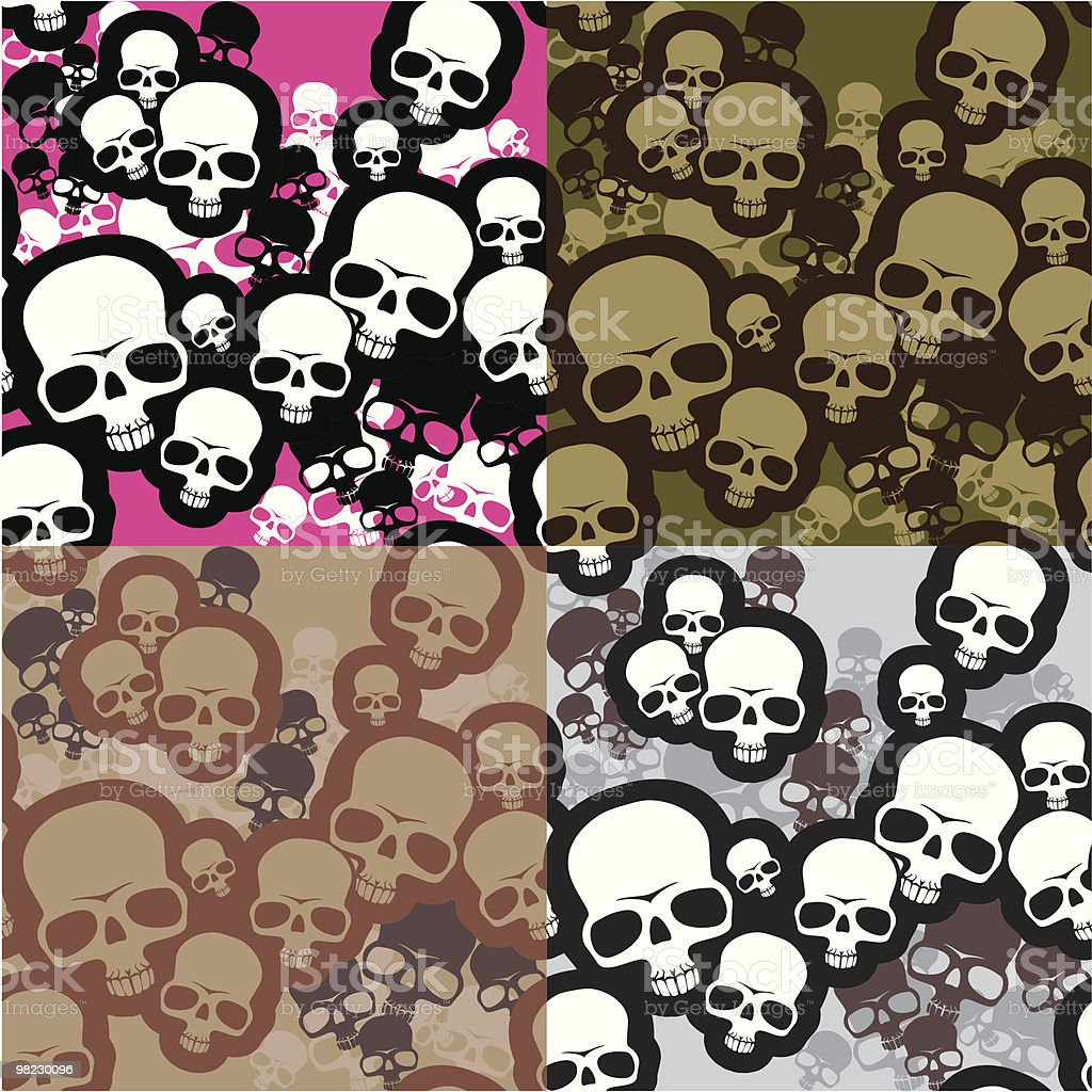 Skulls camo royalty-free skulls camo stock vector art & more images of abstract