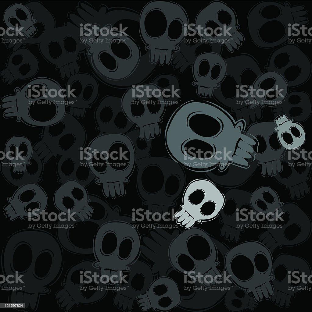 skulls in gray royalty-free stock vector art