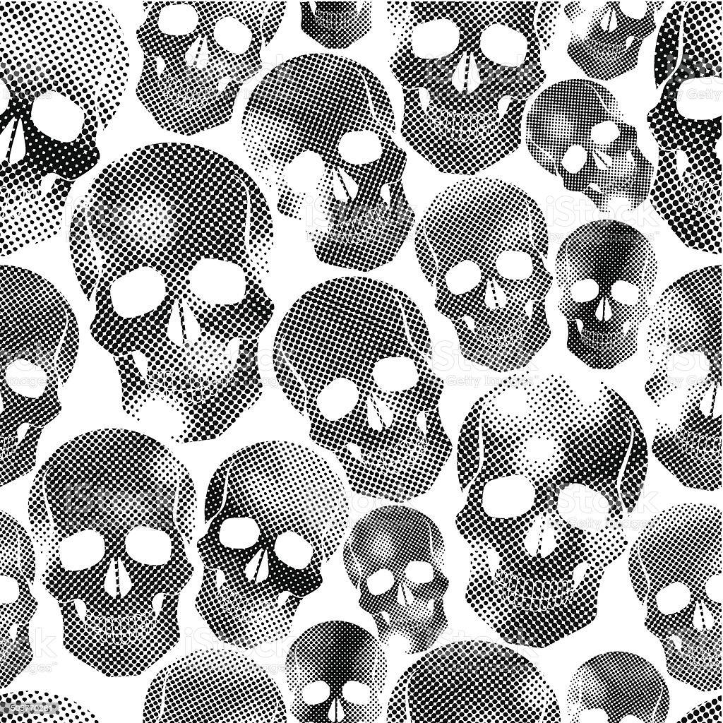 Royalty Free Cartoon Of The Simple Skull Tattoo Designs Clip Art