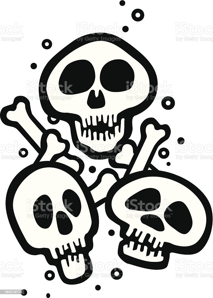 Skulls_Multi.eps royalty-free stock vector art