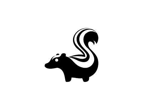 Skunk icon. Isolated Skunk animal symbol - Vector