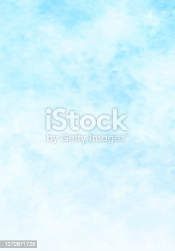 istock Sky and clouds, abstract watercolor background 1272871725