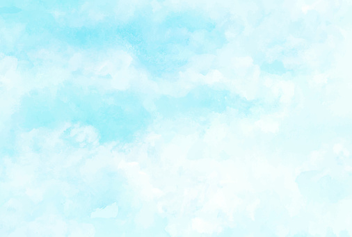 Sky and clouds, abstract watercolor background