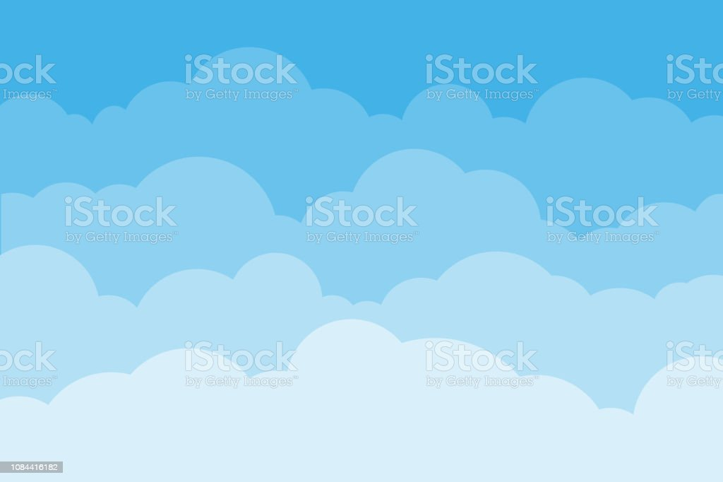 Sky and clouds. Background sky and cloud with blue color. Cartoon cloudy background. Vector illustration. royalty-free sky and clouds background sky and cloud with blue color cartoon cloudy background vector illustration stock illustration - download image now
