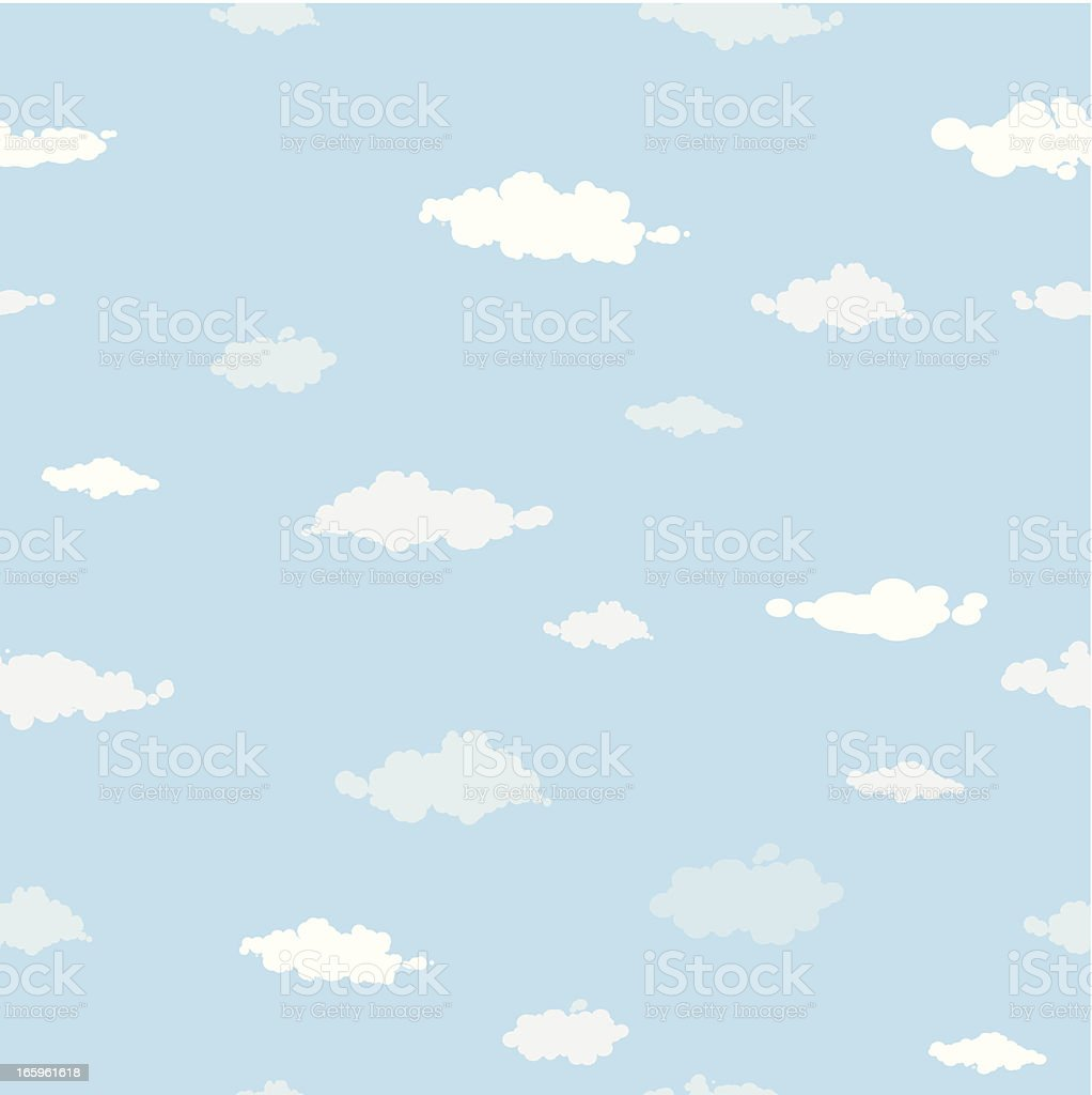 Sky and clouds seamless pattern royalty-free stock vector art