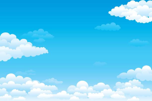 空と雲 - 空点のイラスト素材/クリップアート素材/マンガ素材/アイコン素材
