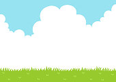 istock Sky and grass field background 1252716010