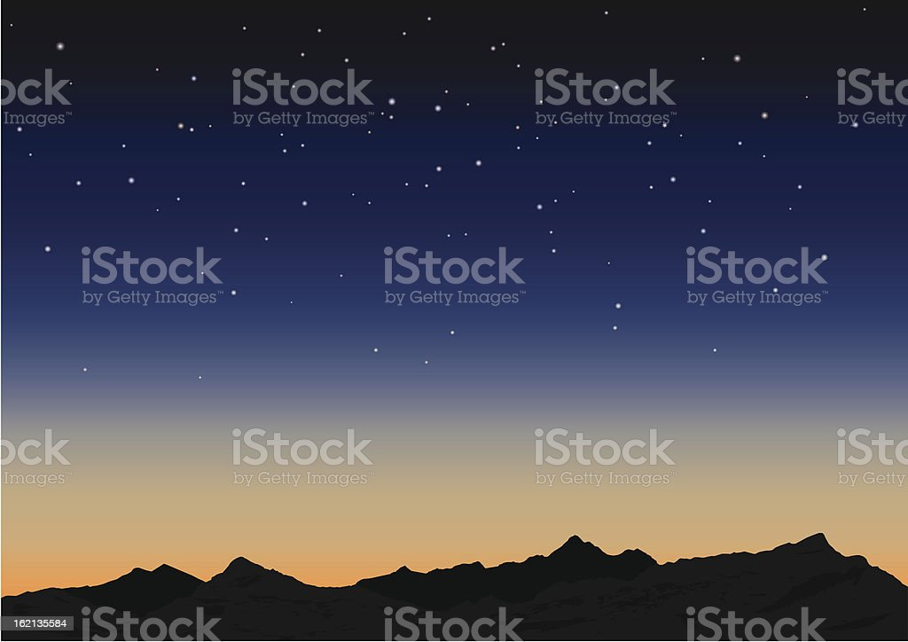Sky and mountains. Vector illustration royalty-free stock vector art