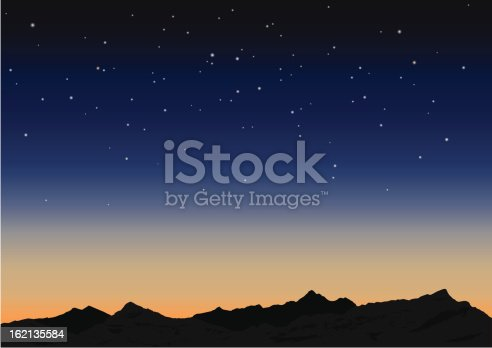 Sky and mountains. Vector illustration