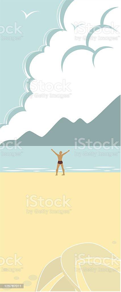 Sky and Sea royalty-free stock vector art