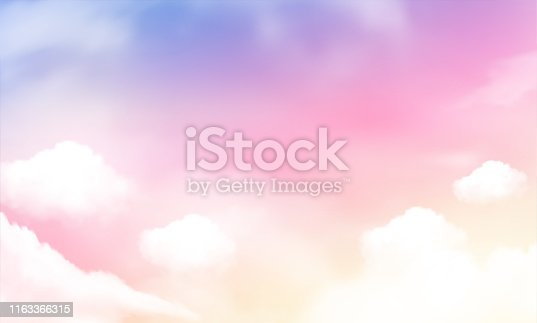 sky background and pastel color. Vector Illustration