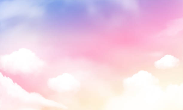 sky background and pastel color. Vector Illustration sky background and pastel color. Vector Illustration dreamlike stock illustrations