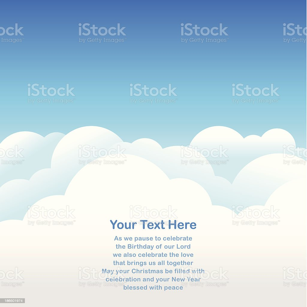 Sky Background for greeting card vector art illustration