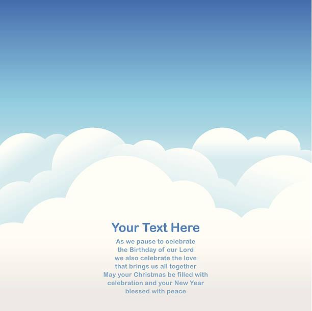 Sky Background for greeting card vector art illustration