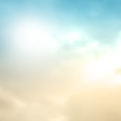 Sky background in retro watercolor