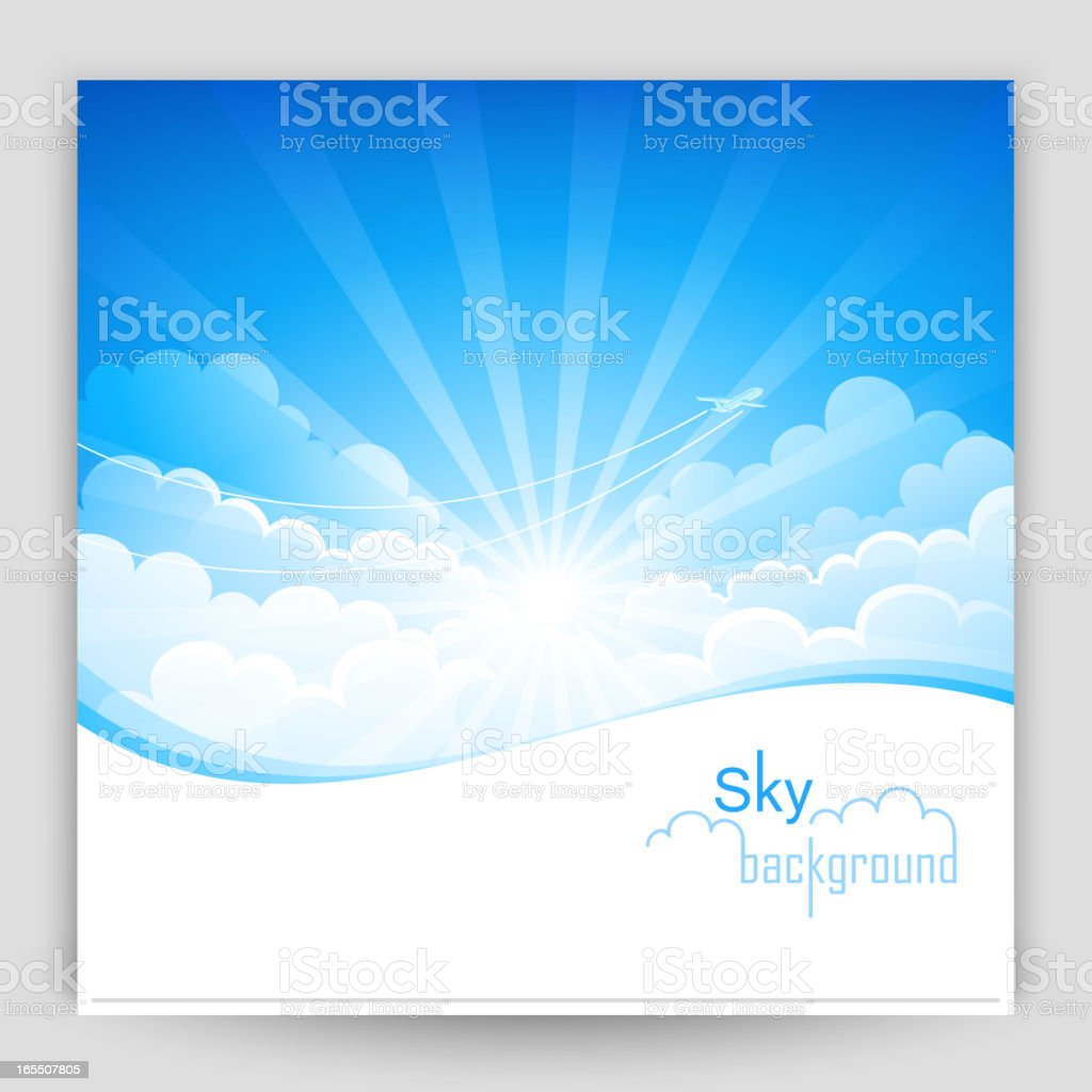 Sky background royalty-free sky background stock vector art & more images of air vehicle